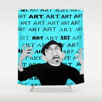 meme Shower Curtains featuring Art Meme  by Madison Daniels