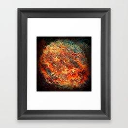 MULTI-SUN BURN Framed Art Print