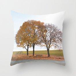 Simple autumn scene Throw Pillow