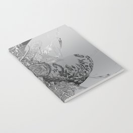 50 Shades of lace Silver Silver Notebook