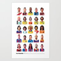 zlatan Art Prints featuring Playmakers by Daniel Nyari