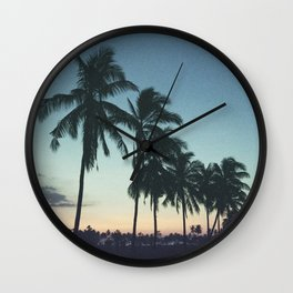 Tropical sunsets Wall Clock