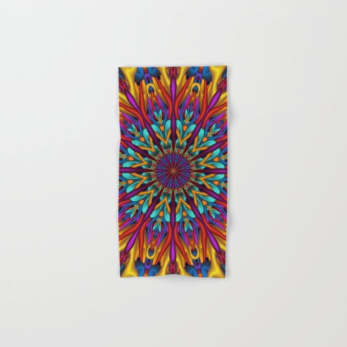 Amazing colors 3D mandala Hand & Bath Towel