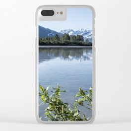 Placer River at the Bend in Turnagain Arm, No. 2 Clear iPhone Case