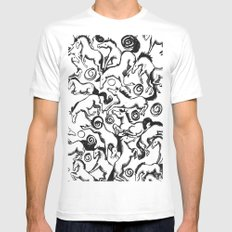 Carousel Chaos White Mens Fitted Tee MEDIUM