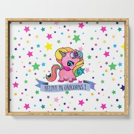 BELIVE IN UNICORNS Serving Tray
