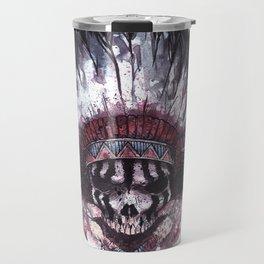 Native American Skull Travel Mug