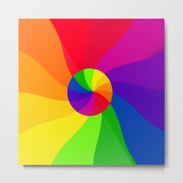 Double color wheel Metal Print