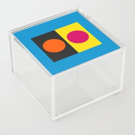 Abstract Blue Minimal Art with Circles Decoration Acrylic Box