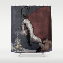 Krampus Christmas Shower Curtain