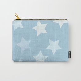 sweet pastel sky denim blue colors stars pattern Carry-All Pouch