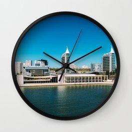 Parque das Nacoes (Park of Nations) in Lisbon, Wall Art Print, Modern Architecture Art, Skyline Wall Clock