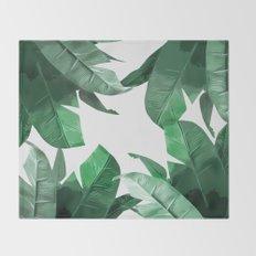 Tropical Palm Print Throw Blanket