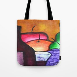 Fruits And Wine Still Life Painting By Saribelle Tote Bag