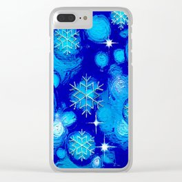 FROSTY BLUE Clear iPhone Case