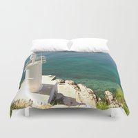 lighthouse Duvet Covers featuring Lighthouse by Bitifoto