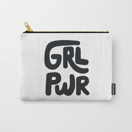 Grl Pwr black and white Carry-All Pouch