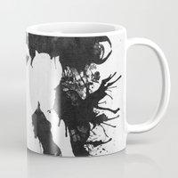 psychology Mugs featuring Samus Aran Metroid Geek Psychological Diagnosis Ink Blot  by Barrett Biggers