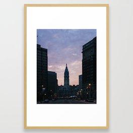 Philadelphia Sunset Framed Art Print