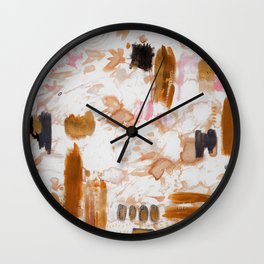 Amber and Pink Wall Clock