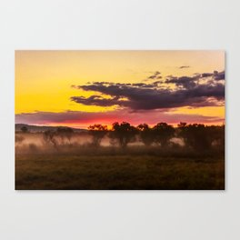 Sunrise above Land of the Leopard Canvas Print
