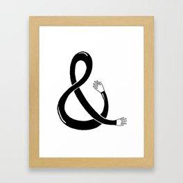 Handpersand Black Framed Art Print