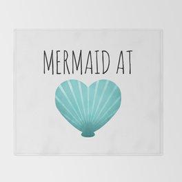 Mermaid At Heart  |  Teal Throw Blanket