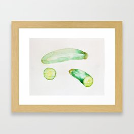 Zucchini Framed Art Print