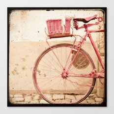 i took my bike and went against the wind... Canvas Print