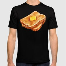 Toast Pattern Black X-LARGE Mens Fitted Tee