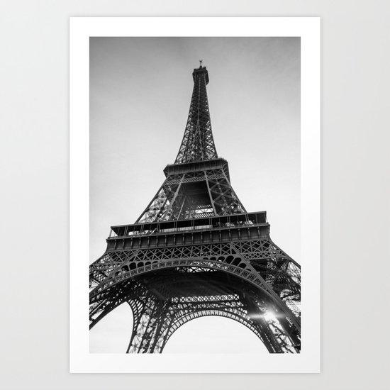 Monochrome Paris Art Print