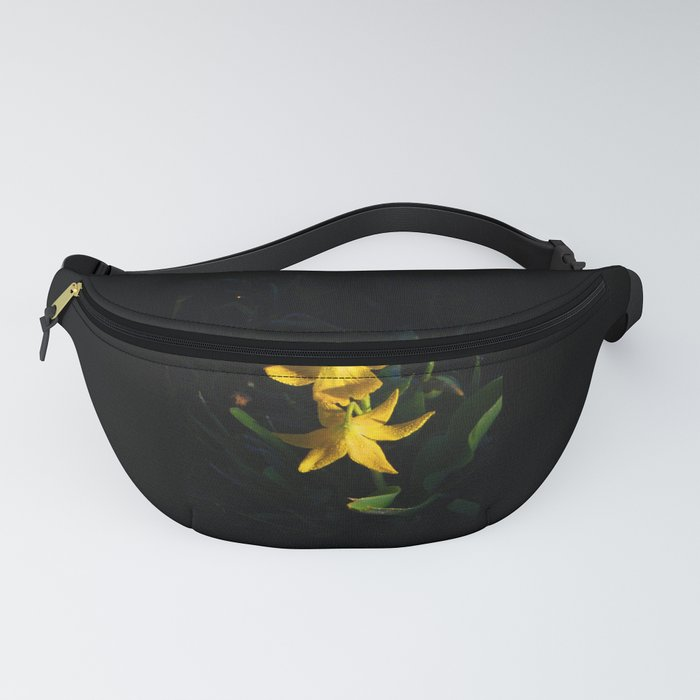 Glacier National Park, Glacier Lilies, Botanical Photography, Floral Print, Yellow Flowers Fanny Pack