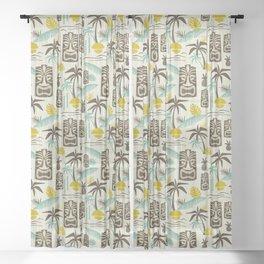 Island Tiki - Tan Sheer Curtain