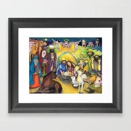 Peace on Earth Nativity Framed Art Print