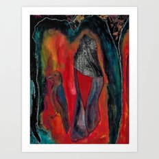 The Only Way Out is In Art Print