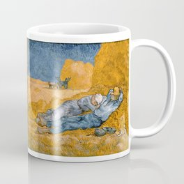 "Vincent van Gogh - Noon Rest From Work (A ""Copy"" of a Jean-François Millet Work) Coffee Mug"