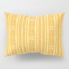 Shibori tie dye yellow and white floral stripes Pillow Sham