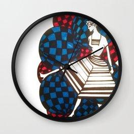 Woman with balls Wall Clock