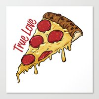 pizza Canvas Prints featuring Pizza by jeff'walker