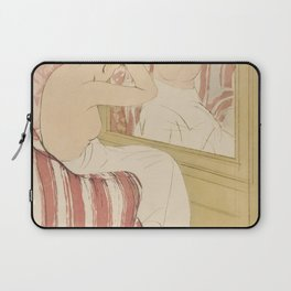 The Coiffure  by Mary Cassatt (1844-1926) Laptop Sleeve