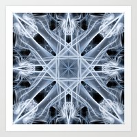 snowflake Art Prints featuring Snowflake by Steve Purnell
