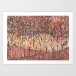 Arboles de otoño (Autumn trees) Art Print