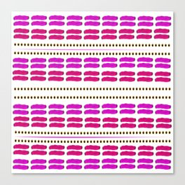 Stitch for stitch in pink Canvas Print