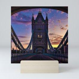 London Tower Bridge at Sunset Mini Art Print