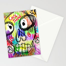 abstract think Stationery Cards