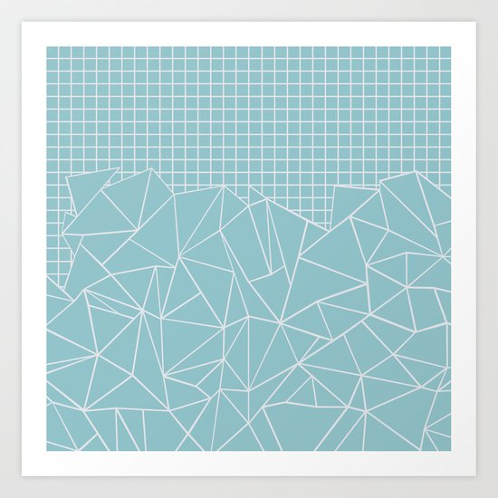 Ab Outline Grid Salty Art Print