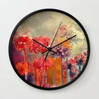 takmaj Wall Clocks featuring Allium by takmaj