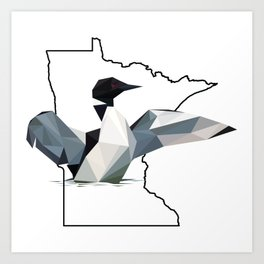 Minnesota – Common Loon Art Print
