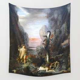 The Lernaean Hydra by Gustave Moreau (1876) Wall Tapestry