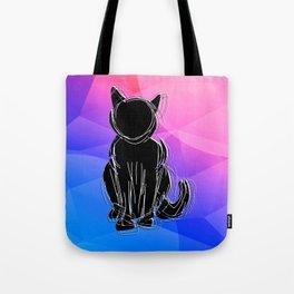 Black Cat - geometric background Tote Bag
